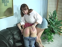 Big titty woman spanks her lover