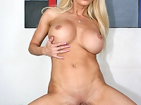 Gina Lynn fucks a big hard cock for quality assurances